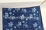 handicraftofpinkcity 2,5Yard Indigo Blau Baumwolle Stoff