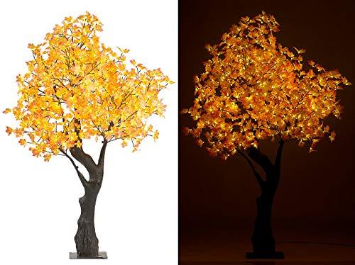 Luminea LED Baum: LED-Deko-Ahornbaum, 576 beleuchtete Herbstblättern, 200 cm, für innen (Deko Baum)