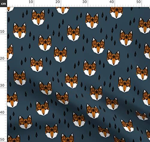 Fuchs, Wald, Junge, Kinderzimmer, Baby Stoffe - Individuell Bedruckt von Spoonflower - Design von Andrea Lauren Gedruckt auf Baumwoll Spandex Jersey