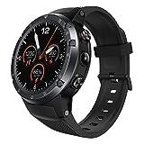 Fuibo Smartwatch, Bluetooth Smart Watch Phone Sport Herren Smartwatch Round Touch Screen Smartwatch mit Pulsmesser für IOS und Android Fitness Tracker (Grau)