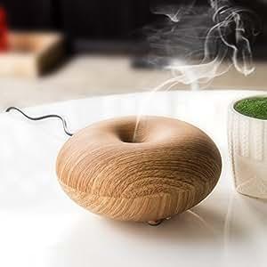 EiioX Diffuseur d'huiles essentielles électrique Humidificateur air à Ultrason ultra silencieux Diffuseur de parfum de lumière ( Bois clair d'imitation)