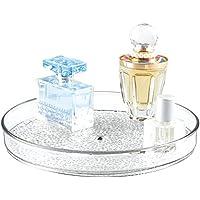 Rangement rotatif de cosmétiques, mDesign Lazy Susan, pour meuble de salle de bain, maquillage, produits de beauté - Transparent