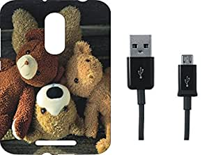 BKDT Marketing Printed Soft Back Cover Combo for Panasonic Arc With Charging Cable