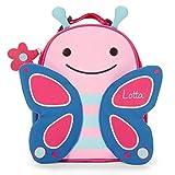 Skip Hop Lunchie Brotzeitbox mit Namen | Motiv Schmetterling in rosa, pink & blau für Mädchen | isolierte Frühstückstasche mit Tieren | inkl. Namensdruck