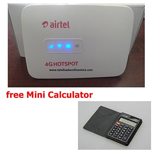Airtel 4G Wifi Hotspot - Unlocked (Multi Sim Support) Latest Any Gsm Network 2g/3g/4g Simcards (usb Wired+Wifi)(Battery,Mainunit,Usbcable)