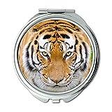 Yanteng Spiegel, Compact Mirror, große Katze der Tierrinde, Taschenspiegel, beweglicher Spiegel