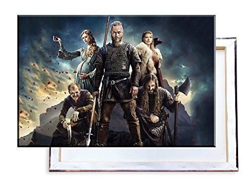 Unified Distribution Vikings TV Serie - 120x80 cm - Bilder & Kunstdrucke fertig auf Leinwand aufgespannt und in erstklassiger Druckqualität