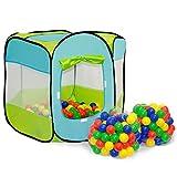 Spielset Kinderspielzelt Elliot inkl. 200 Bällebadbällen  Spielzelt Spielhaus für Jungen und Mädchen  Kinder-Bällebad-Zelt mit Spielbällen  inkl. Tragetasche