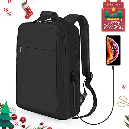 Reyleo zaino uomo donna per computer portatile con porta usb - zainetto in nylon per uomo ideale per l'ufficio ed il lavoro zaino d' affari business laptop backpack