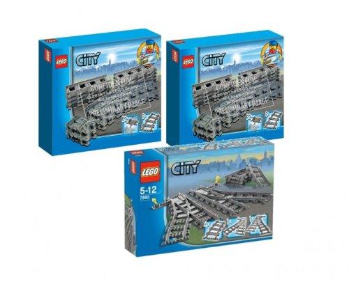 Preisvergleich Produktbild Lego City 7499 Flexible Schienen 2er Set und 7895 Weichen