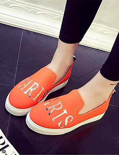 ZQ gyht Scarpe Donna-Mocassini-Tempo libero / Casual-Comoda-Piatto-Di corda-Nero / Blu / Verde / Rosso / Arancione , orange-us9 / eu40 / uk7 / cn41 , orange-us9 / eu40 / uk7 / cn41 orange-us8 / eu39 / uk6 / cn39
