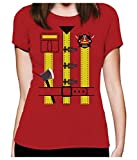 Déguisement de pompier Costume Halloween T-Shirt Femme X-Large Rouge