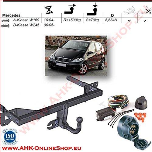 AHK Remorque avec jeu de 7 broches pour MB A Series W électrique-Dispositif d'attelage Dispositif de suspension - Rigide, 169/Series B W245 2004 avec angeschraubtem Rotule