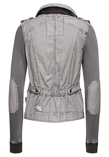 Khujo Damen Übergangsjacke Vintage grau (210 GREY)