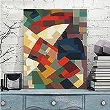 Kits de Pintura por Números para Adultos Principiantes Bricolaje Cubo de Rubik 16×20 pulgadas Marco de madera Pintura al óleo Sobre Lienzo el Mejor Regalo
