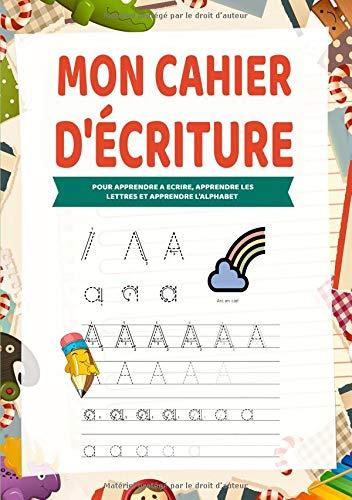 Mon Cahier d'écriture: Apprendre lettre majuscule - Pour apprendre a ecrire, apprendre les lettres et apprendre l'alphabet par Preschoolkidilix