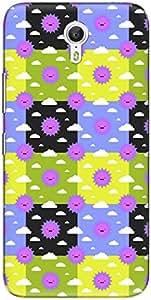 The Racoon Lean printed designer hard back mobile phone case cover for Lenovo Zuk Z1. (Yellow Sun)