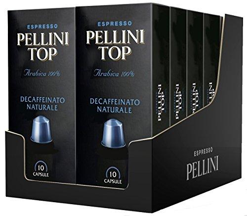 Pellini caffè, espresso pellini top arabica 100% decaffeinato naturale, compatibili nespresso, 12 astucci da 10 capsule, 120 capsule