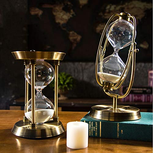 Hourglass Timer - 15 30 60 Min Elegant Sandglass Time Counter Count Down  Timer Hourglass Clock Decoration Xmas Gifts - Loupe Kids Color Teeth  Necklace