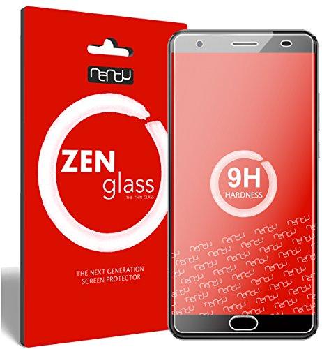 nandu I ZenGlass Flexible Glas-Folie für Oukitel K6000 Plus Panzerfolie I Bildschirm-Schutzfolie 9H I (Kleiner Als Das Gewölbte Bildschirm)