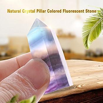 Natural Amethyst Quartz Crystal Stones Pillar Colored Fluorescent Stone Craft Home Decoration 6