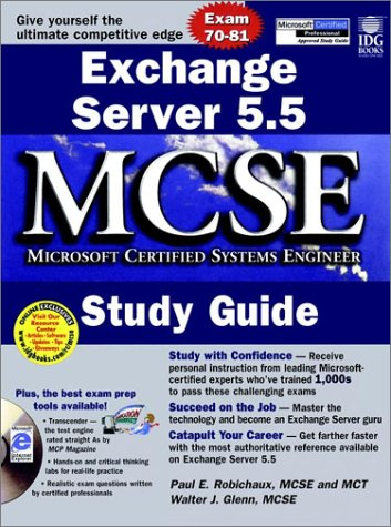 Exchange Server 5.5, w. CD-ROM (MCSE Certification)