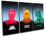 Bold Bloc Design - Star Wars Pop Art Movie Greats 150x100cm TREBLE Caja de lamina de arte lienzo enmarcado foto del colgante de pared - hecho a mano en el Reino Unido - enmarcado y listo para colgar - Canvas Art Print