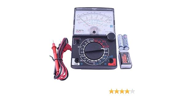 Yx 360tre Analog Multimeter Sinometer 8 Funktionen 19 Bereiche Spiegelskala Baumarkt