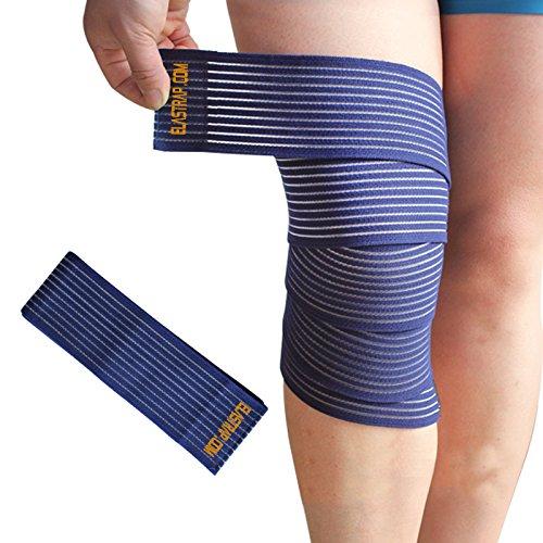 Kniebandage für Sport–Fußball, Rugby, Handball, Volleyball, Basketball, Tennis, Laufen, Fahrrad, Leichtathletik, Tanz, Kampfsport, Fitness, Muskeltraining,fürMänner, Frauen und Kinder, blau