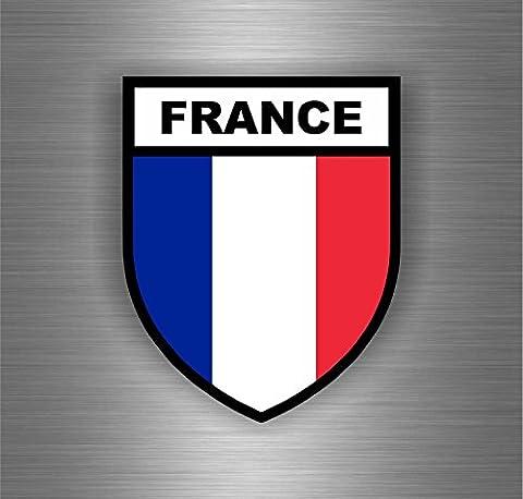 Autocollant sticker voiture moto blason drapeau france francais opex militaire
