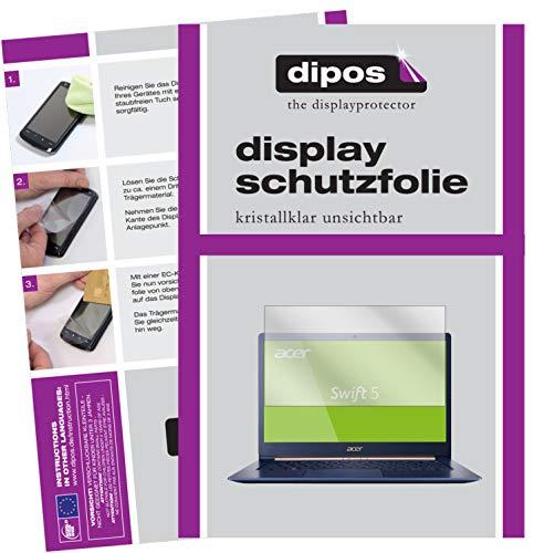 dipos I 2X Schutzfolie klar passend für Acer Swift 5 SF514-52T Folie Bildschirmschutzfolie
