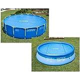 Intex-29021 Telo Termico Easy-Frame, Colore Blu, 305 cm, 29021