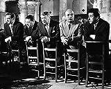 Générique Photo Noir et Blanc du Film Les Tontons Flingueurs (24x30 cm) avec Lino Ventura, Bernard Blier, Francis Blanche et Jean Lefebvre