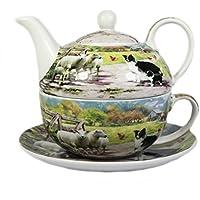 Collie e ovini Fine China Tea for one Set
