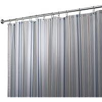 mDesign Stripe Tenda Doccia in Tessuto, 180 x 180 cm - Blu