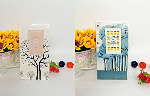 SYOO 2 x Taschen mini Fotoalbum, 9 x 6,3cm, 14 Seiten, mini klein Bilder Album für Fujifilm Instax Mini 7s 8 25 90 50s & Polaroid Snap PIC-300 Z2300 Zip (Mini-album 8x8)