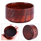 Shaving Soap Bowl, Professional Male Shaving Brush Cleaning Cream Soap Cup Mug, Spiral Rubber Wooden Texture