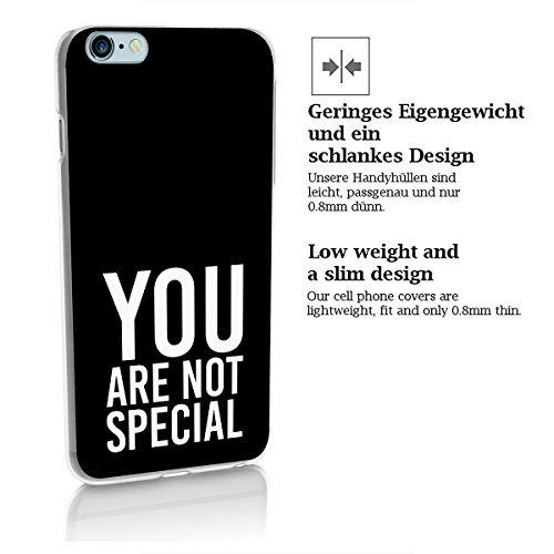finoo | iPhone 8 Handy-Tasche Schutzhülle | ultra leichte transparente Handyhülle in harter Ausführung | kratzfeste stylische Hard Schale mit Motiv Cover Case | Watercolor heart butterflies You are not special black
