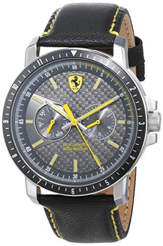 Scuderia Ferrari Homme Analogique Classique Quartz Montre avec Bracelet en Cuir 830450