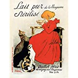 Bumblebeaver STERILISED MILK QUILLOT BROTHERS PARIS FRANCE VINTAGE ADVERTISING POSTER Ancien La publicité Affiche...