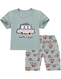 e9441e71a702 chicnchic Baby Girls Boys Cotton Mini car t-Shirt + Shorts Cartoon Printed 2pcs  Clothes