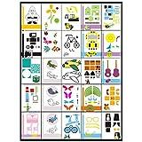 Aibecy 20pcs/pack Creative 3d impresión pluma dibujo imagen molde Cartoon DIY niños juguete de regalo