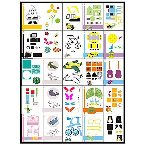 3D Stifte Schablonen,Aibecy 20 teile / paket Kreative 3D Druck Stift Bilder Zeichnung Papier Cartoon DIY Kinder Geschenk Spielzeug