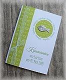 Einladung Einladungskarte Kommunion Konfirmation Taufe Fisch silber grün