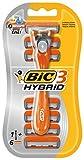 BIC 3 Hybrid Männer Rasierer Set, 3 Klingen, 1 Rasiergriff und 3 Wechsel-Klingen