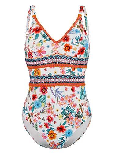 Alba Moda Damen Badeanzug mit Bordürenverzierung Schnell trocknend 42
