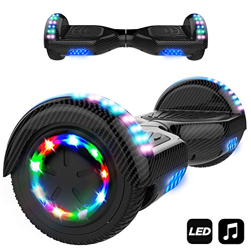 Markboard Hoverboard Bluetooth 6.5 Pouces, Gyropode Overboard Smart Scooter (Noir carbone)