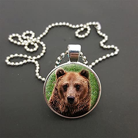 Bear Head Pendant On 18