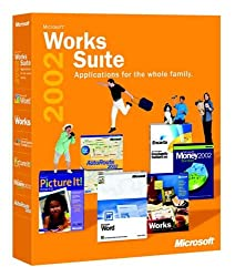 Works Suite 2002 Cd (Word, Money, Autoroute, Encarta, Picture It)