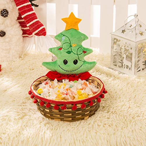 Gaddrt Süßigkeiten Weihnachtssüßigkeit-Ablagekorb-Dekoration-Weihnachtsmann-Ablagekorb-Geschenk (B 18X17CM)
